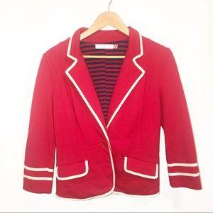 🌼ModCloth Sunny Girl Academia Red Ahoy Blazer-L